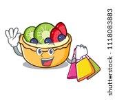 shopping fruit tart character... | Shutterstock .eps vector #1118083883