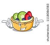 wink fruit tart character... | Shutterstock .eps vector #1118086583