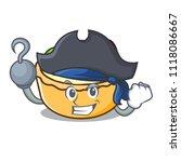 pirate fruit tart character... | Shutterstock .eps vector #1118086667