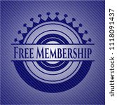 free membership badge with... | Shutterstock .eps vector #1118091437