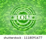 lol  green emblem with triangle ... | Shutterstock .eps vector #1118091677
