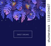 sweet dreams tropical palm... | Shutterstock .eps vector #1118104607