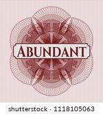red rosette  money style emblem ...   Shutterstock .eps vector #1118105063