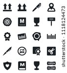 set of vector isolated black... | Shutterstock .eps vector #1118124473