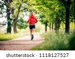 running woman  enjoying summer... | Shutterstock . vector #1118127527