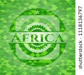 africa realistic green emblem.... | Shutterstock .eps vector #1118136797
