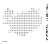 iceland dotted map. vector... | Shutterstock .eps vector #1118144033