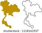 thailand map  abstract art ... | Shutterstock .eps vector #1118162537