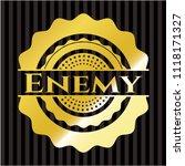enemy gold shiny emblem | Shutterstock .eps vector #1118171327