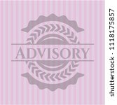 advisory pink emblem. vintage. | Shutterstock .eps vector #1118175857