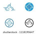 business techno logo vector... | Shutterstock .eps vector #1118190647