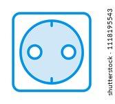 socket switch outlet  | Shutterstock .eps vector #1118195543