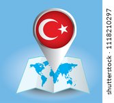 world map centered on europe... | Shutterstock .eps vector #1118210297