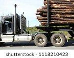 close up of a semi truck in... | Shutterstock . vector #1118210423