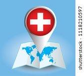 world map centered on europe... | Shutterstock .eps vector #1118210597
