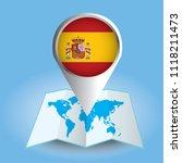 world map centered on europe... | Shutterstock .eps vector #1118211473