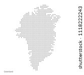greenland dotted map. vector... | Shutterstock .eps vector #1118222243