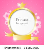 pink cute background for little ... | Shutterstock .eps vector #111823007