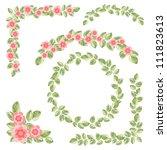 vector foliage frames | Shutterstock .eps vector #111823613
