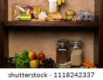 products and food rich of... | Shutterstock . vector #1118242337