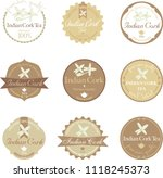 set of vector label with indian ... | Shutterstock .eps vector #1118245373
