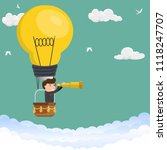 businessman watching trough... | Shutterstock .eps vector #1118247707