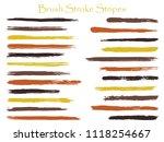 textured ink brush stroke... | Shutterstock .eps vector #1118254667