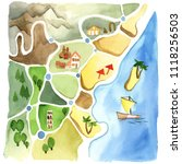 watercolor illustration... | Shutterstock . vector #1118256503