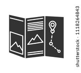 paper map glyph icon. resort... | Shutterstock . vector #1118264843