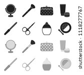 nail file  scissors for nails ... | Shutterstock .eps vector #1118277767