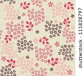 pink floral seamless pattern... | Shutterstock . vector #111828797