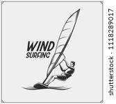 windsurfing emblem and label.... | Shutterstock .eps vector #1118289017