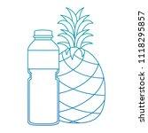 juice fruit bottle with... | Shutterstock .eps vector #1118295857