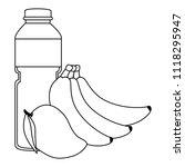 juice fruit bottle with bananas ... | Shutterstock .eps vector #1118295947