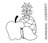 fresh fruits set menu | Shutterstock .eps vector #1118295977