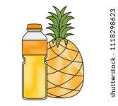 juice fruit bottle with... | Shutterstock .eps vector #1118298623