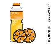 juice fruit bottle with oranges | Shutterstock .eps vector #1118298647