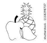 fresh fruits set menu | Shutterstock .eps vector #1118298737
