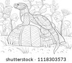 adult coloring book page a cute ... | Shutterstock .eps vector #1118303573