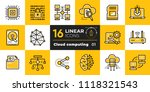 linear icon set of cloud... | Shutterstock .eps vector #1118321543
