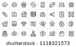 outline icons set of cloud... | Shutterstock .eps vector #1118321573