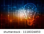 bulb future technology ... | Shutterstock . vector #1118326853