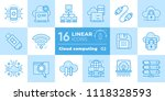 linear icon set of cloud... | Shutterstock .eps vector #1118328593