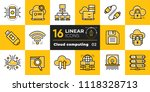 linear icon set of cloud... | Shutterstock .eps vector #1118328713