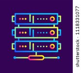 outline gradient icons web... | Shutterstock .eps vector #1118331077
