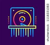 outline gradient icons data... | Shutterstock .eps vector #1118331083