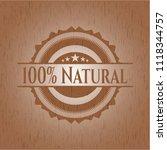 100  natural retro wood emblem | Shutterstock .eps vector #1118344757