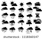 weather sign symbol set of... | Shutterstock .eps vector #1118360147