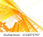 abstract modern architecture | Shutterstock . vector #1118372747