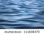 Ripple on the surface of the water, the Baltic Sea - stock photo